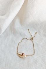 Bofemme Bofemme Good Vibes Shell Bracelet