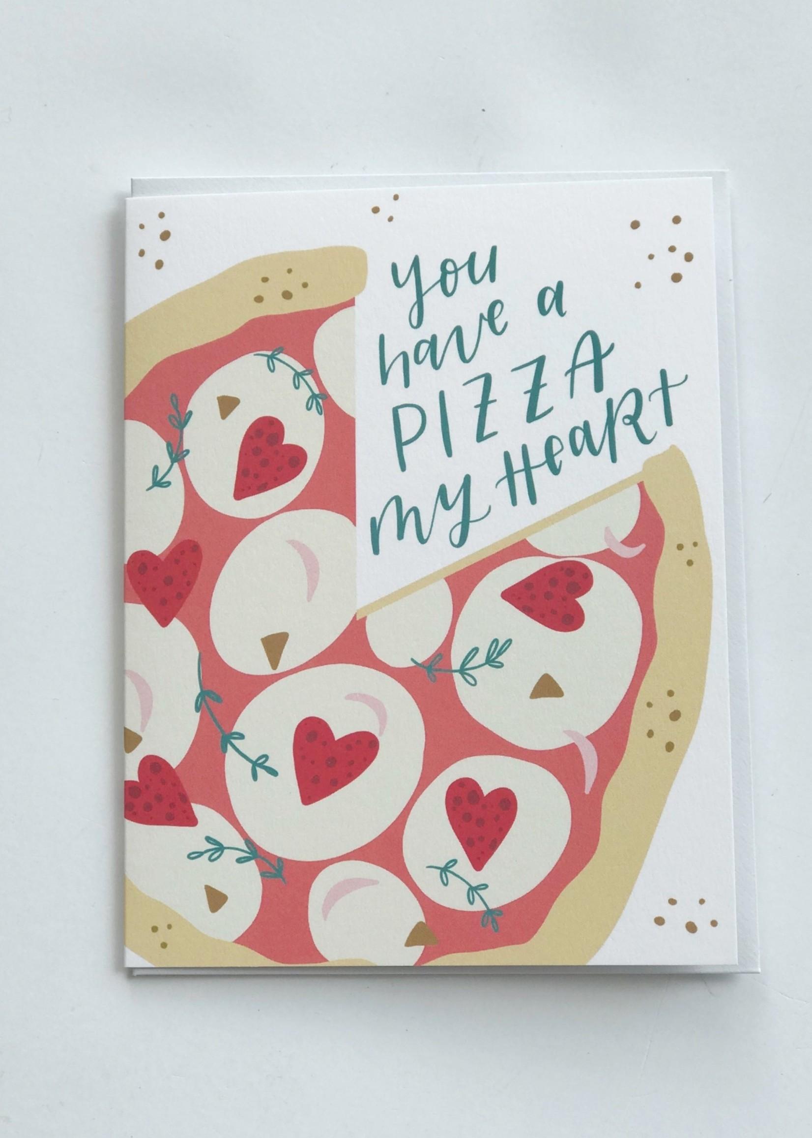 Happy Tines Pizza My Heart Card