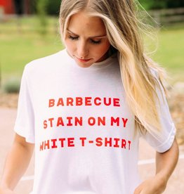 BBQ Stain White T-Shirt