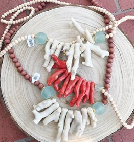 Allison Conway AC Coral Necklace with beaded neck