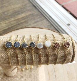 Allison Conway AC Circle Druzy Geo Bracelet