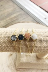 Allison Conway AC Hexagon Bracelet