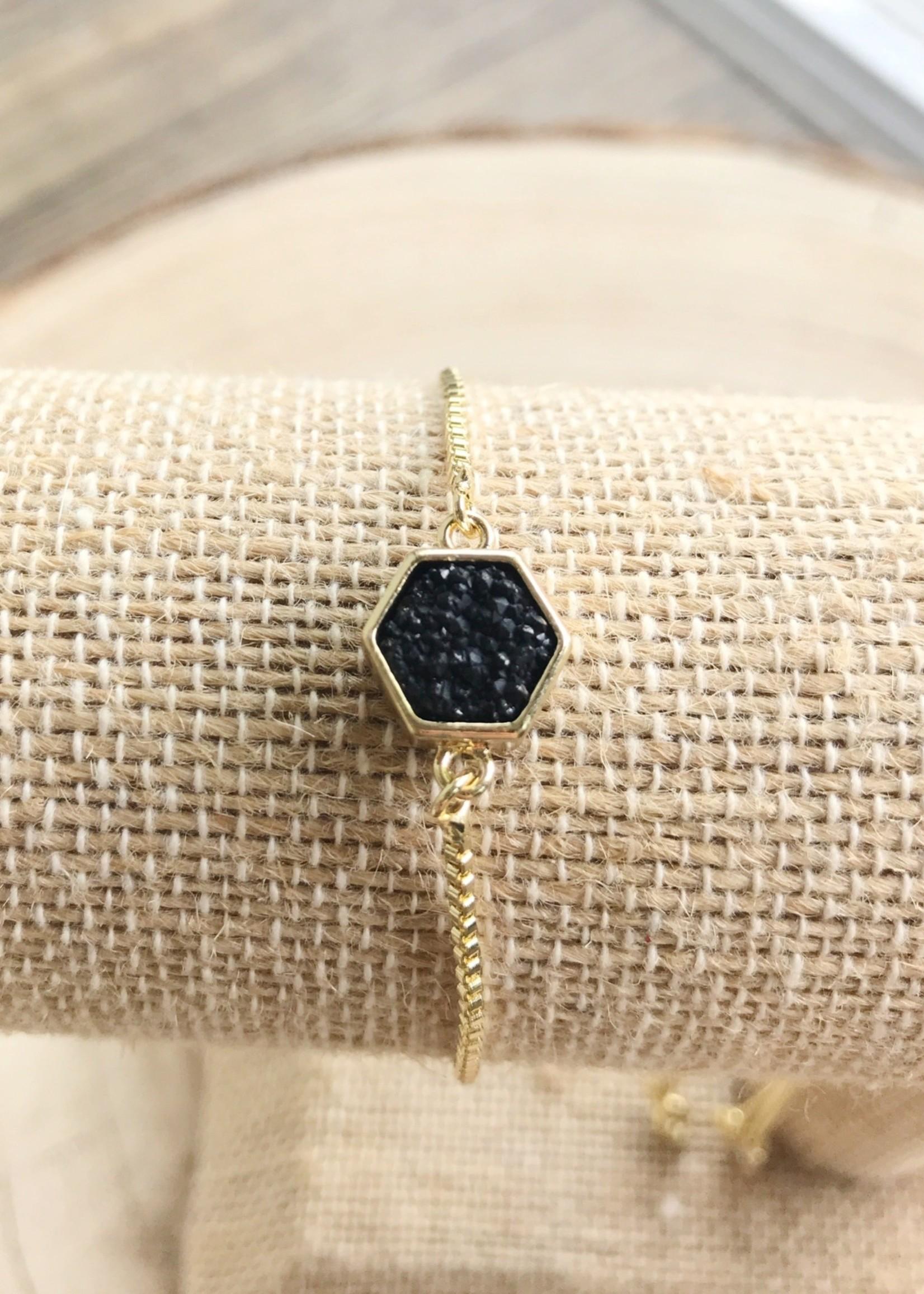 Allison Conway AC Hexagon Bracelet
