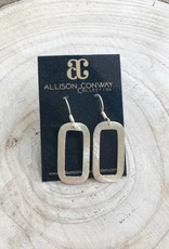 Allison Conway AC Medium Cut Out Rectangle Earrings