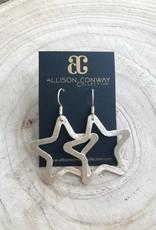 Allison Conway AC Medium Gold Star Earrings