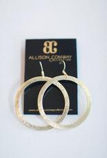 Allison Conway AC Medium Simple Gold Circle Earrings
