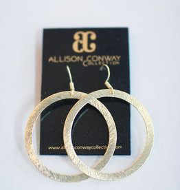 Allison Conway AC Medium Simple Gold Circle Earrings