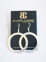 Allison Conway AC Small Simple Silver Circle Earrings