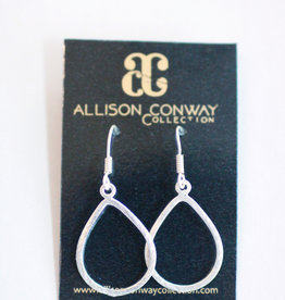 Allison Conway AC Silver Classic Drop Earrings