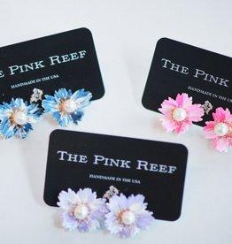 Pink Reef Pink Reef Flower Studs