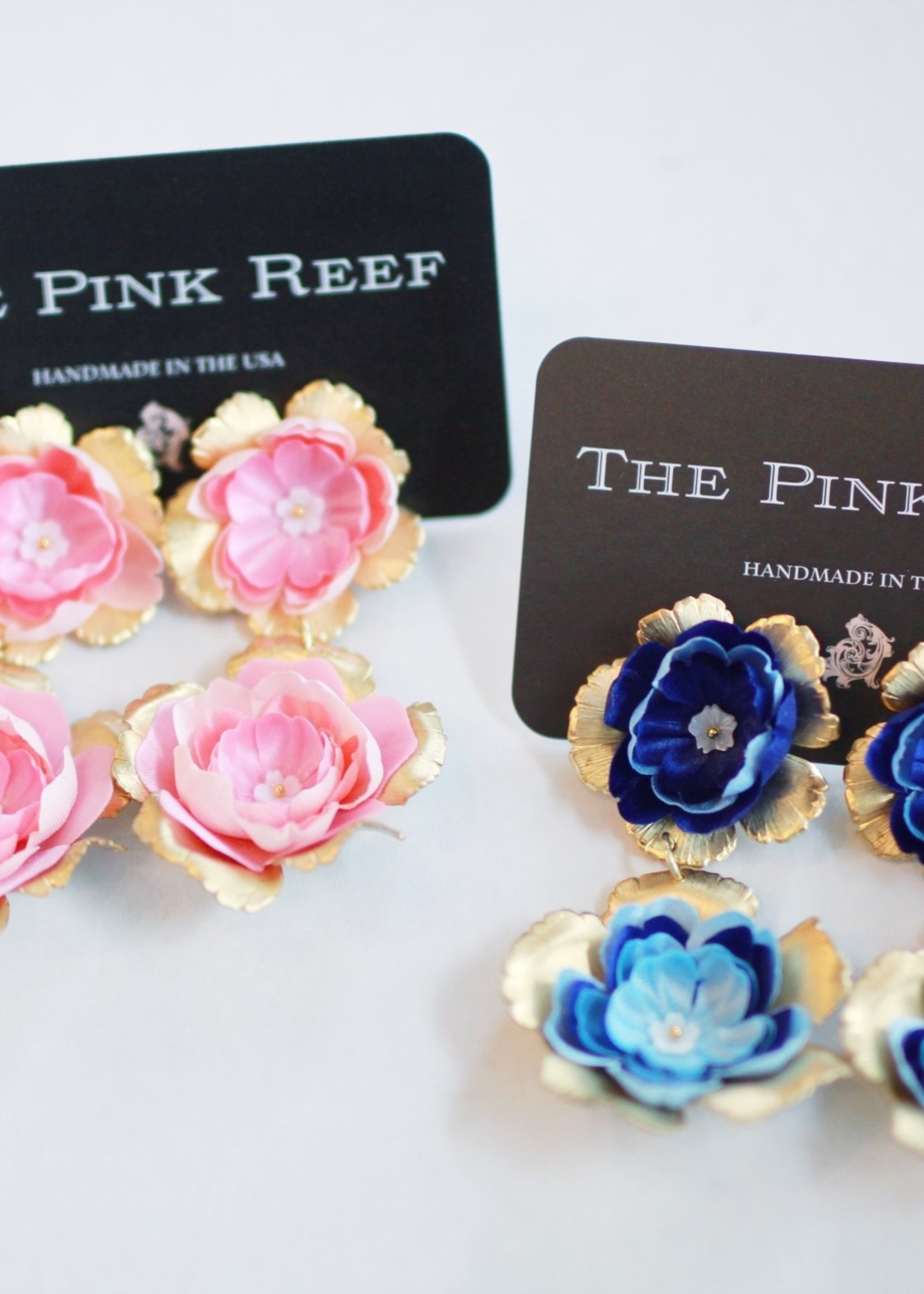 Pink Reef Pink Reef Hand Cut Floral Drops