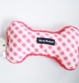Gingham Bone Canvas Toy Sm. Red