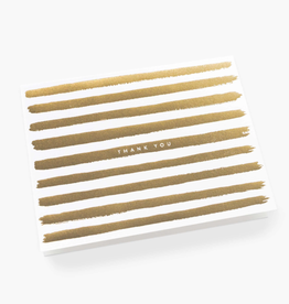 Boxed Set Gold Stripes Thank You Cards