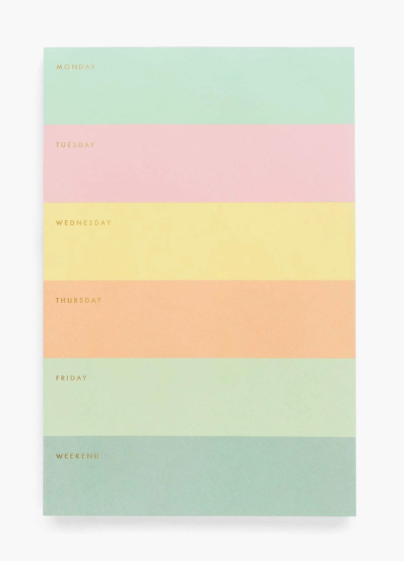 Color Block Weekly Memo Notepad