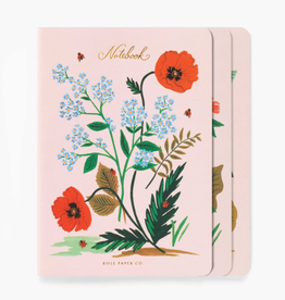 Assorted Set of 3 Botanical Notebooks