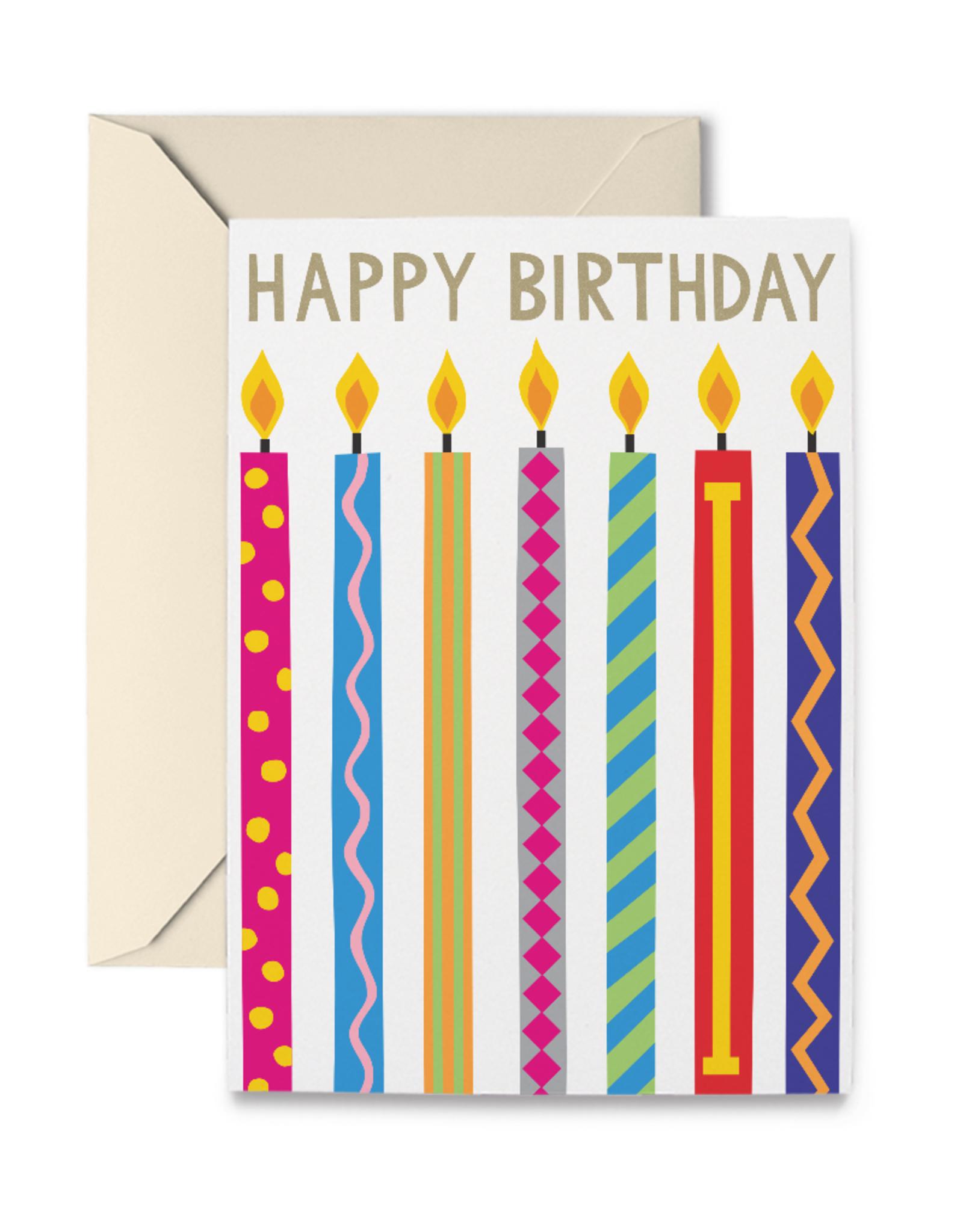 R. Nichols Birthday Candles Card