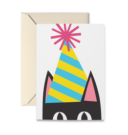 R. Nichols Peeking Kitty Birthday Card