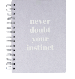 Never Doubt Vegan Leather Spiral Journal