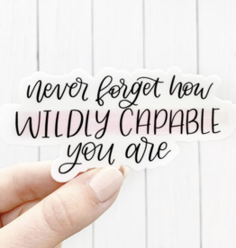 Elyse Breanne Design Wildly Capable Sticker