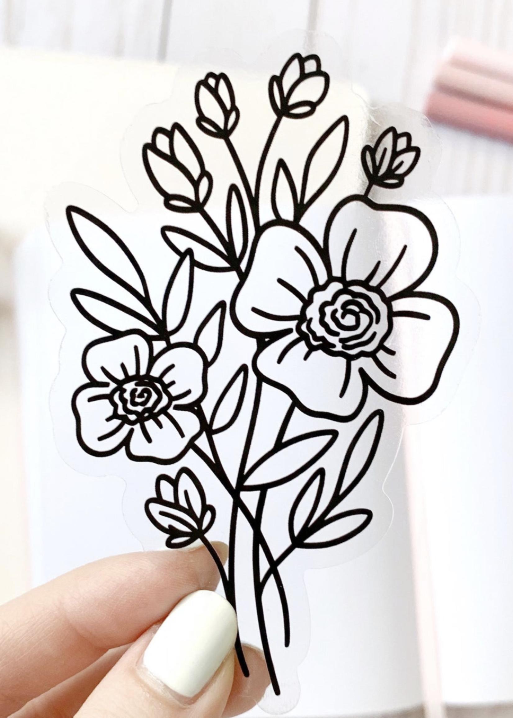 Elyse Breanne Design Line Bouquet Sticker