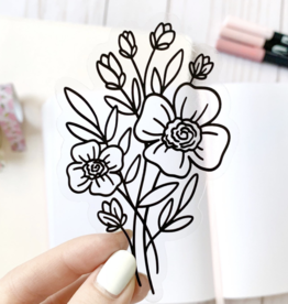 Elyse Breanne Design Line Bouquet Sticker