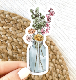 Elyse Breanne Design Watercolor Vase Sticker