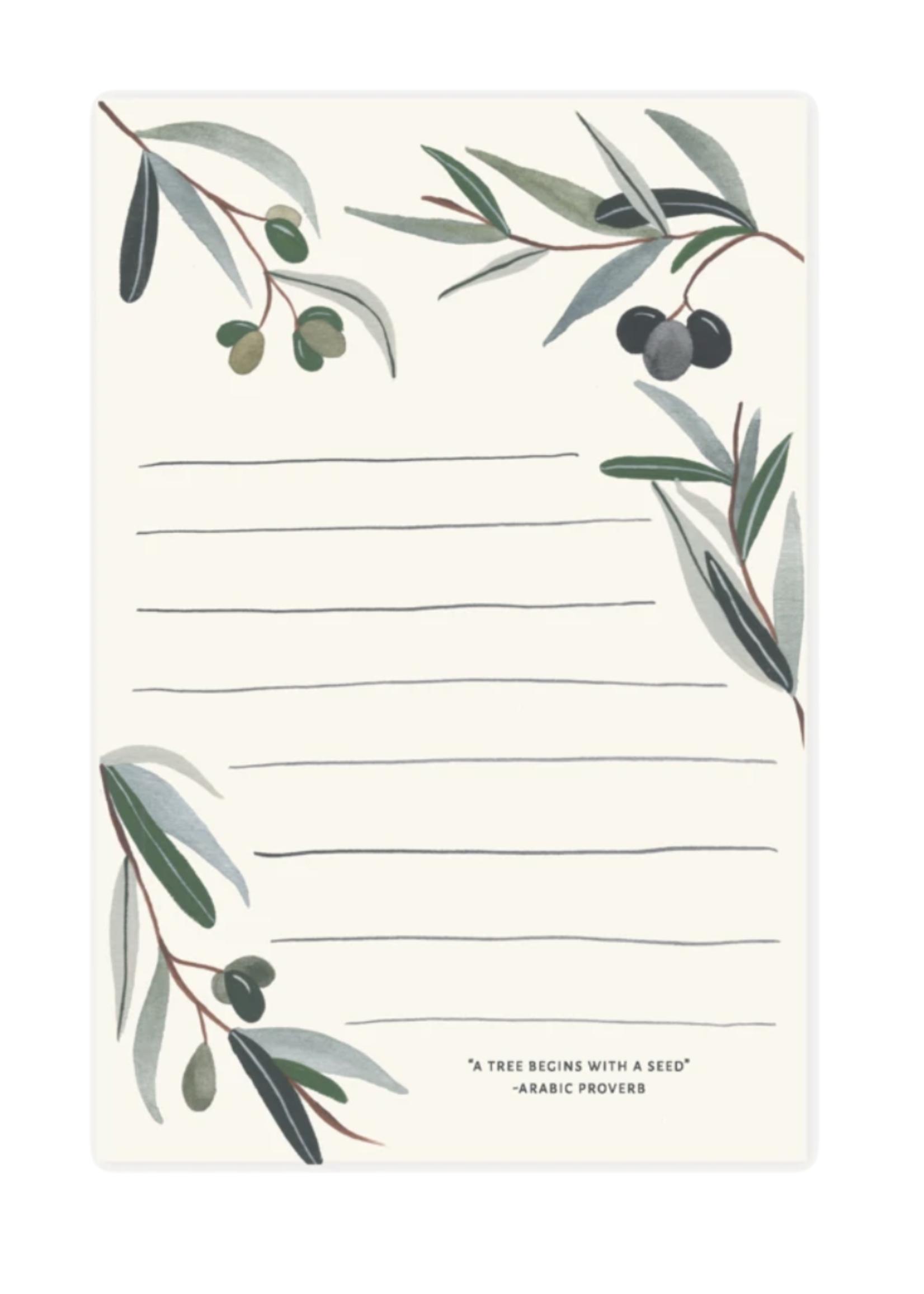 Pen + Pillar Olive Branch Notepad