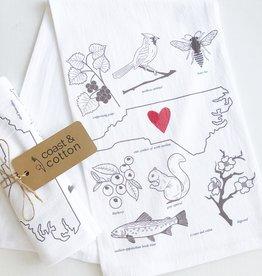 NC Symbols Tea Towel