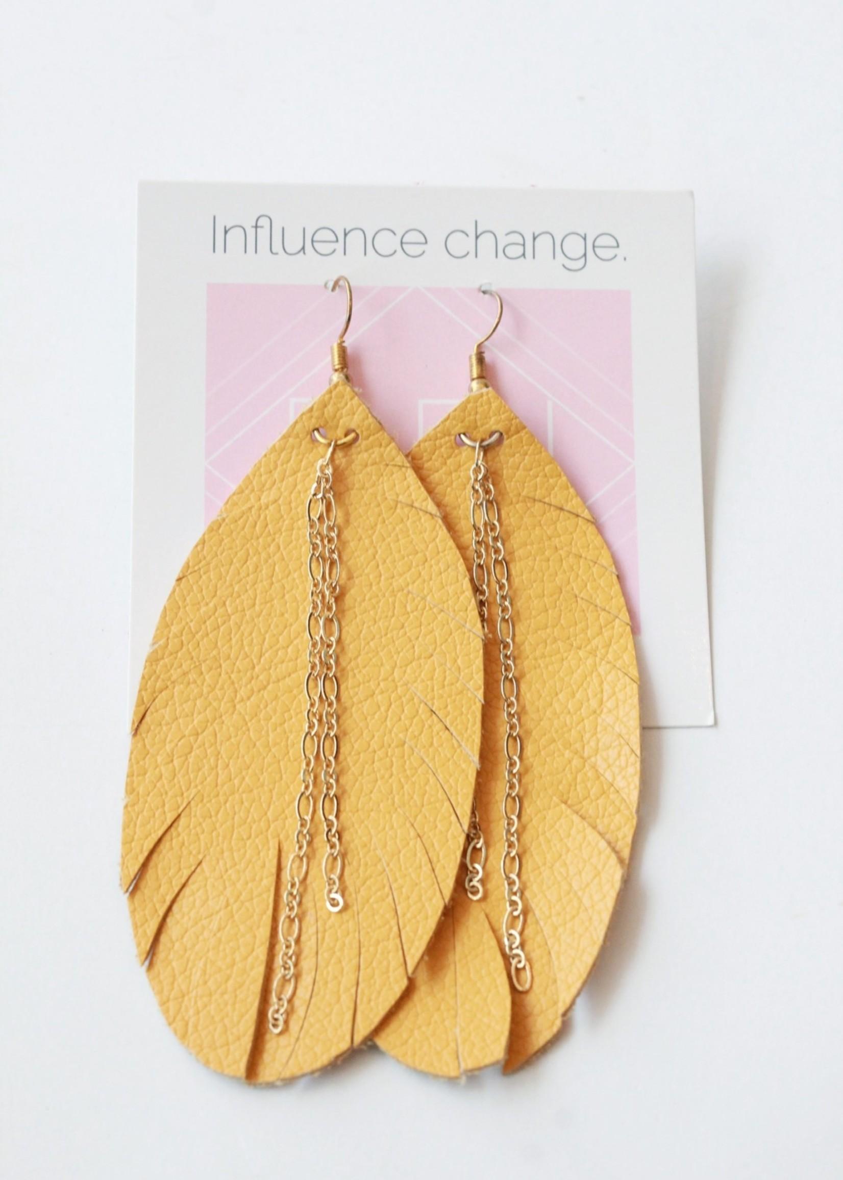 Designed for Joy DFJ Large Feather Earring