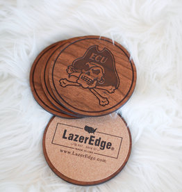 LazerEdge ECU Pirates Coasters