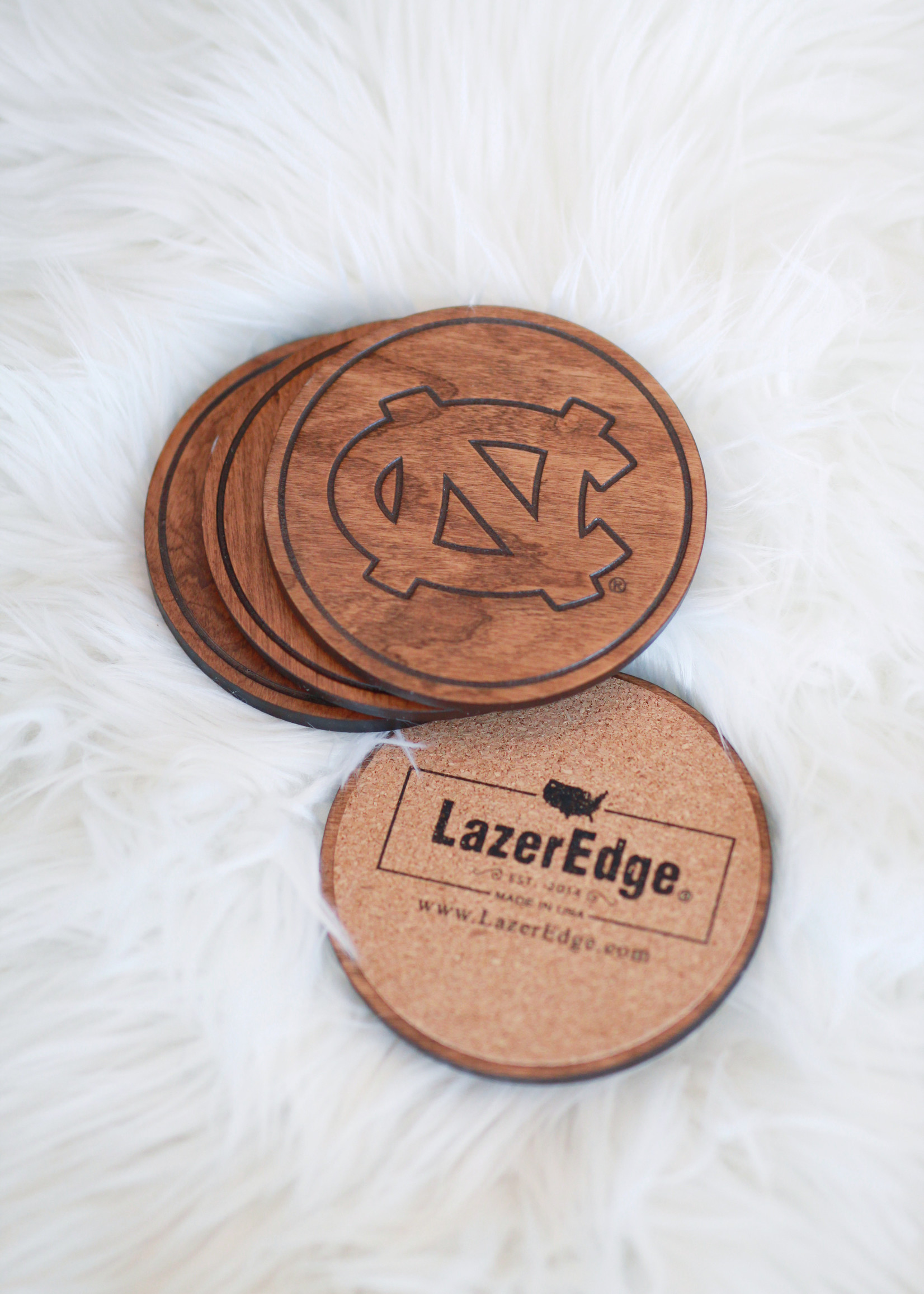 Interlocking UNC Coasters