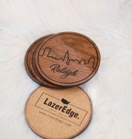 LazerEdge Raleigh Skyline Coasters