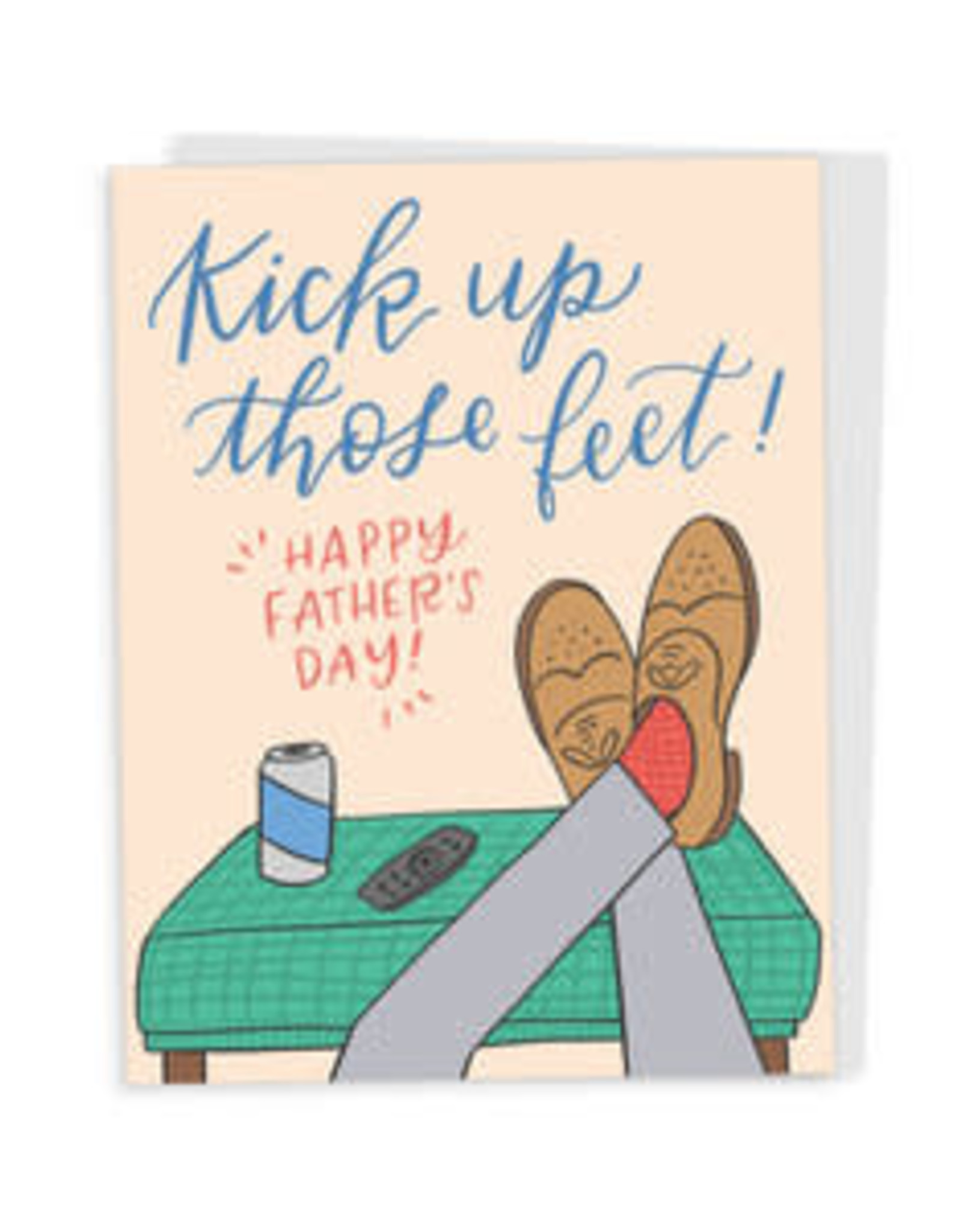 Happy Tines Feet Up Father's Day Card