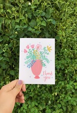 Happy Tines Thank You Wildflower Vase Card