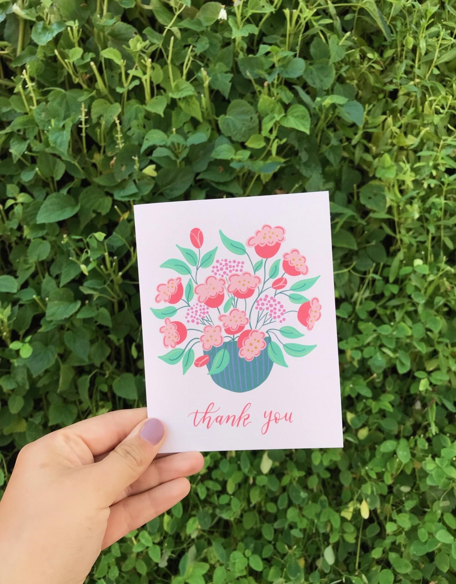 Happy Tines Thank You Poppy Vase Card