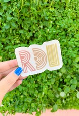 Cardinal Directions CD Stickers- RDU Clear