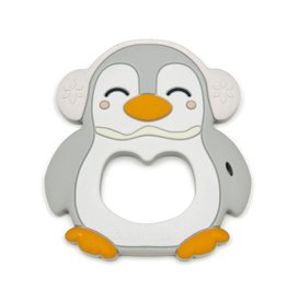 Grey Penguin Silicone Teether