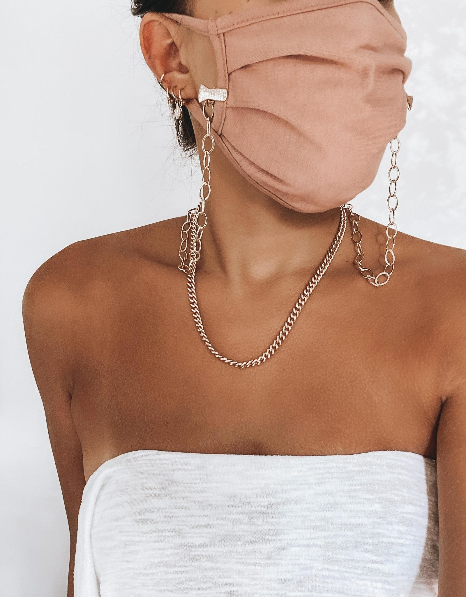 Bofemme Bofemme Gold Mask Chain