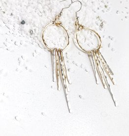 Bofemme Bofemme Hammered Sunburst Earrings