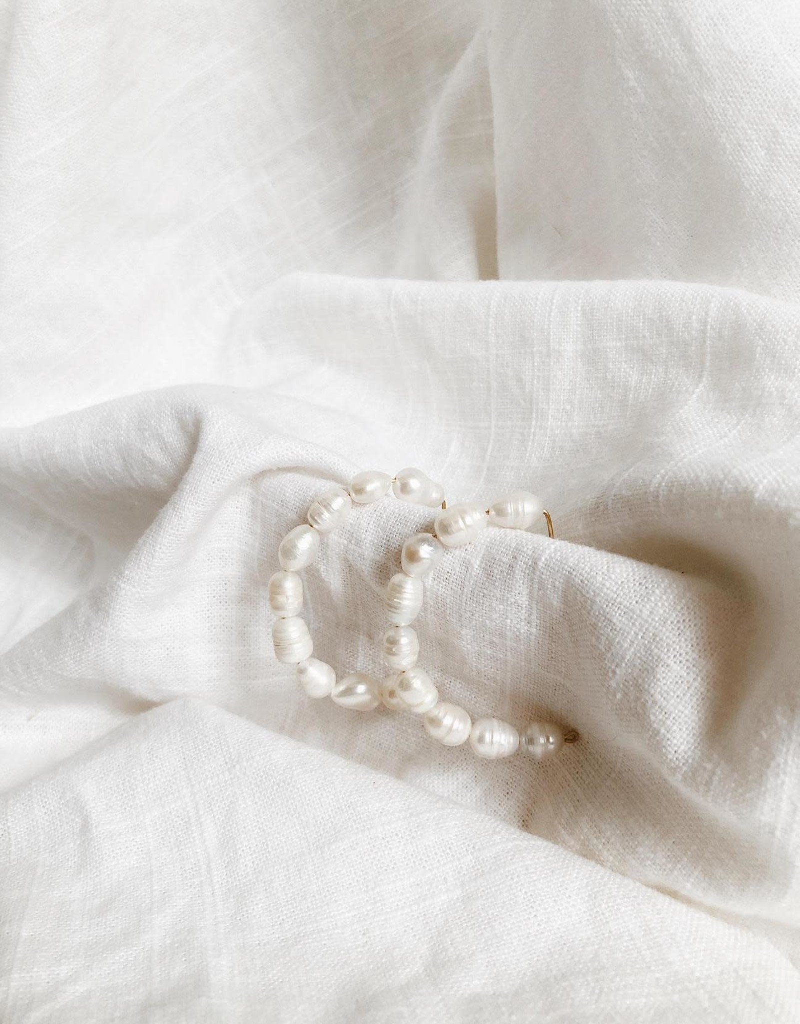 Bofemme Bofemme Pearl Hoops Earrings