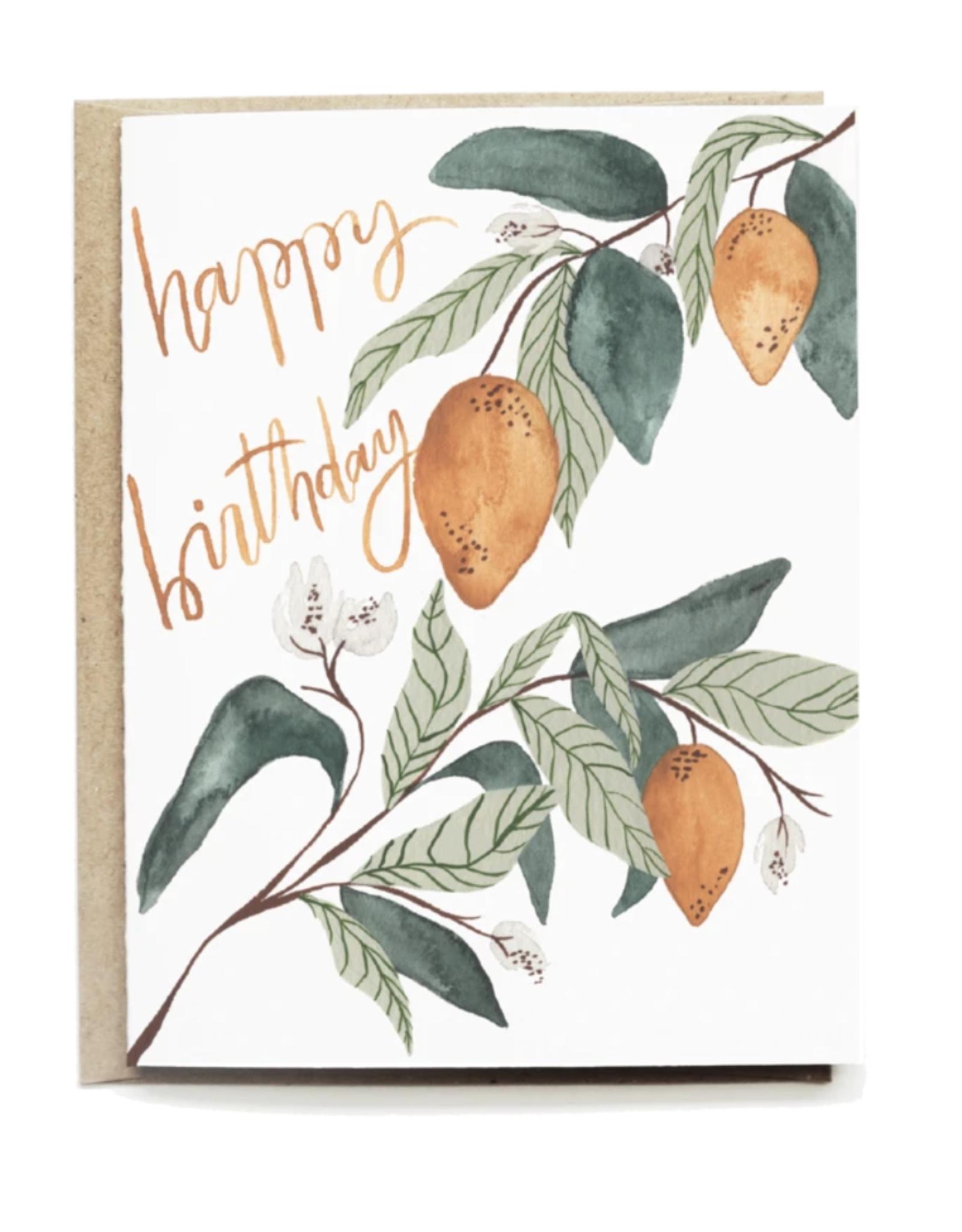 Pen + Pillar Lemons Happy Birthday Card