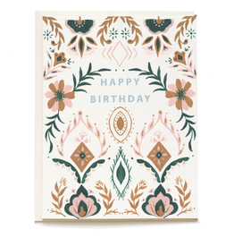 Pen + Pillar Jewel Oasis Birthday Card