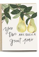 Pen + Pillar Great Pear Wedding Card