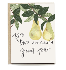 Pen + Pillar Great Pear Wedding Card
