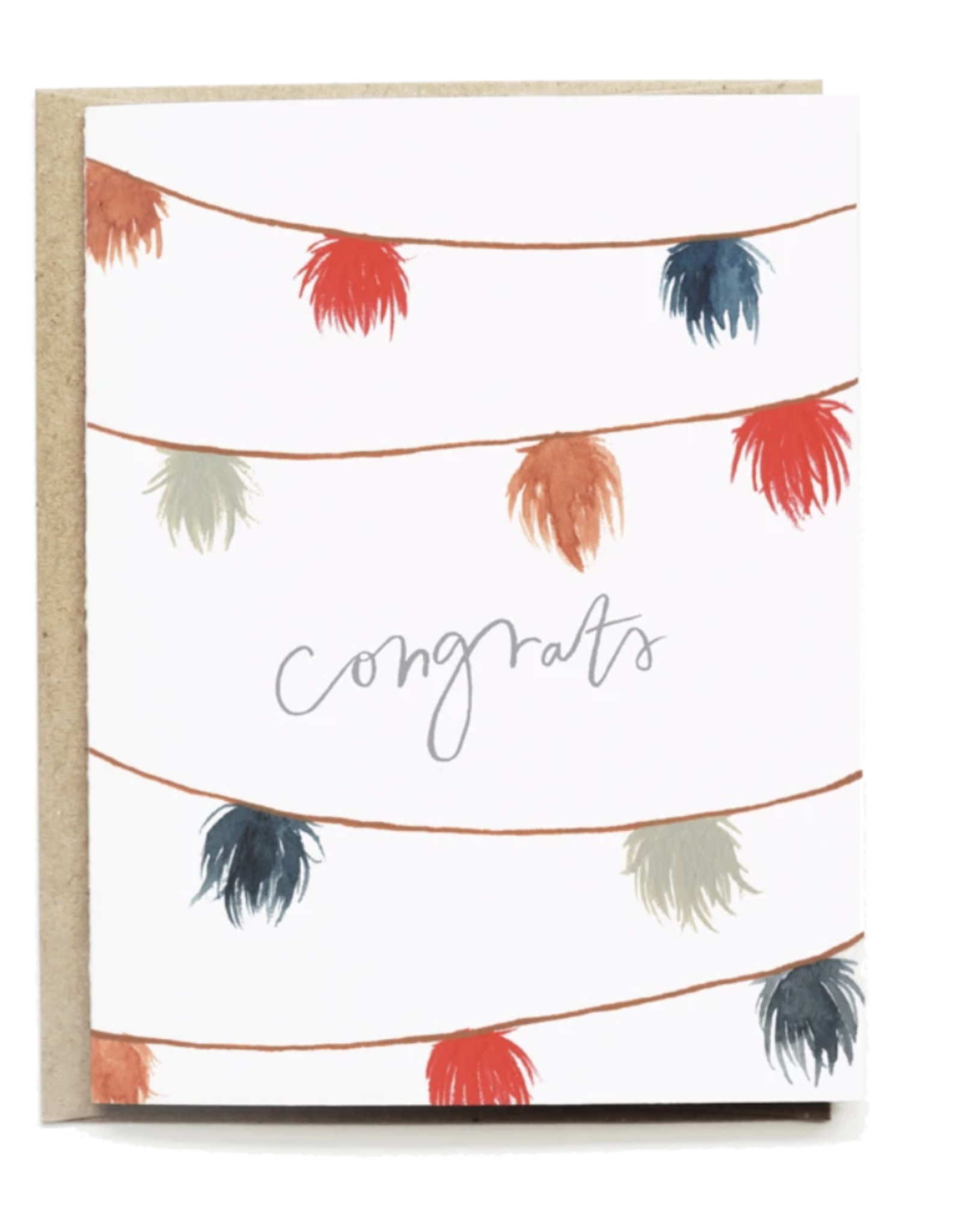 Pen + Pillar Pom Pom Congrats Card