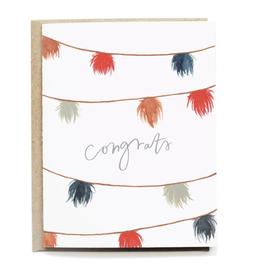 Pen + Pillar Pom Pom Congrats Card
