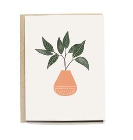 Pen + Pillar Peach Vase Card