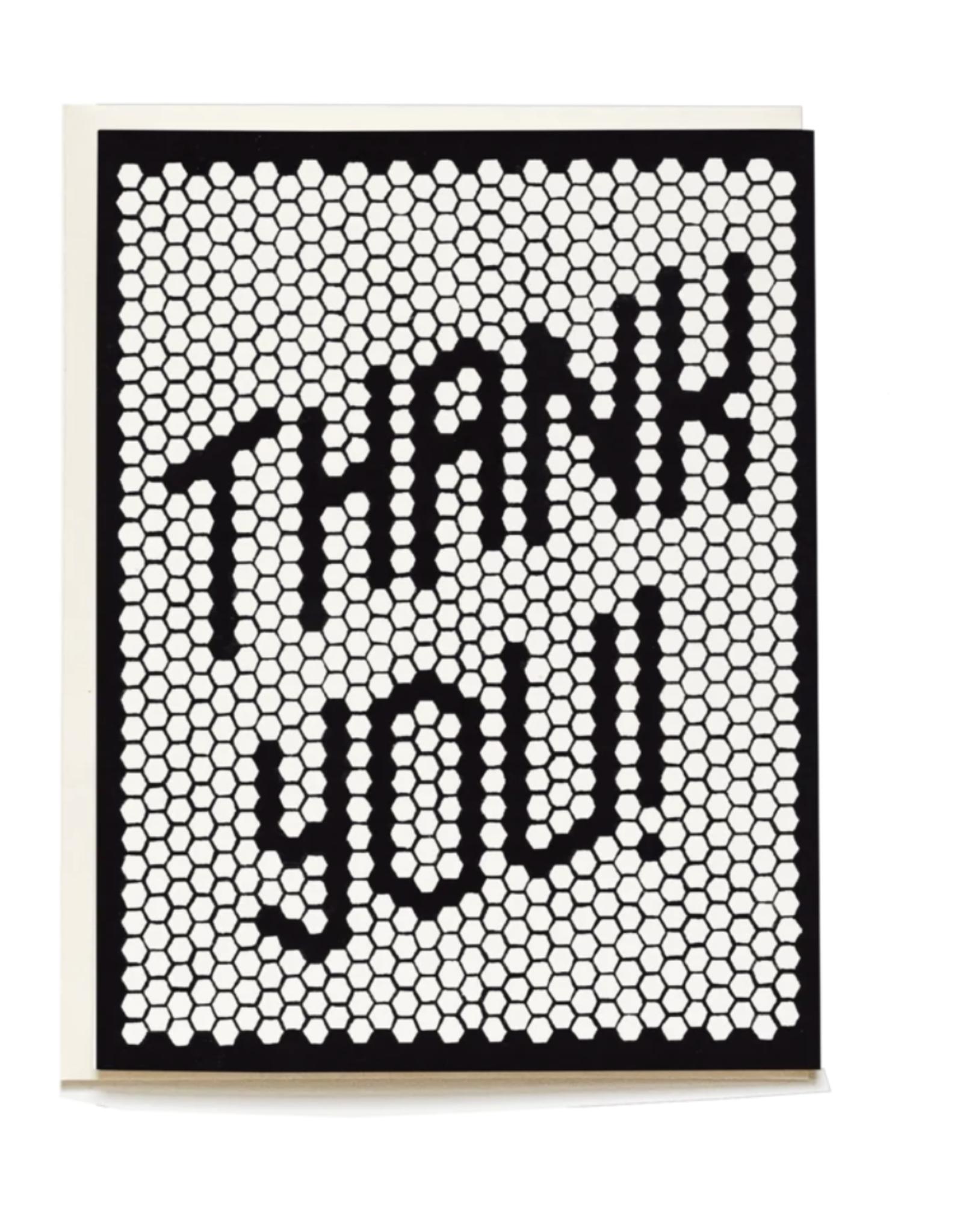 Pen + Pillar Retro Tile Thank You Card