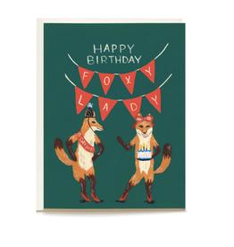 Pen + Pillar Foxy Lady Birthday Card
