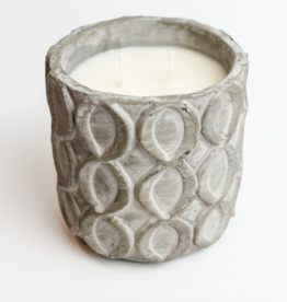 Sweet Wick Candle Co. Balsam Fir Concrete Lattice Vessel Candle